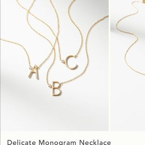 🔥NEW!🔥 Anthropologie Delicate Initial Necklace